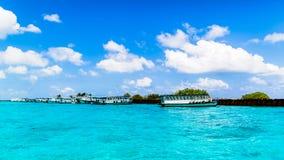 Beach view at Four Seasons Resort Maldives at Kuda Huraa Stock Photo