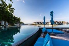Beach view at Four Seasons Resort Maldives at Kuda Huraa Royalty Free Stock Images