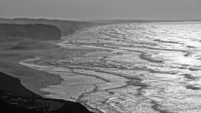 Beach. View from the Foz do Arelho beach Stock Image