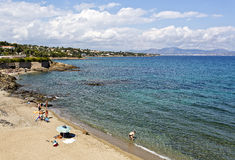Beach View in the French Riviera Royalty Free Stock Photo