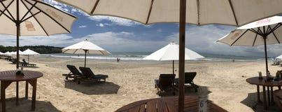 Beach View Hotel Umbrella Royalty Free Stock Photos