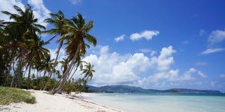 Beach view at Las Galeras on peninsula of Samaná Stock Image