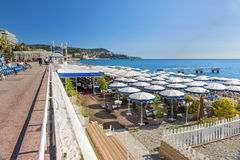Beach view in Nice, France Royalty Free Stock Photos