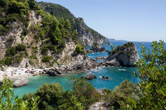 Beach view at Parga - Greece. Royalty Free Stock Photography
