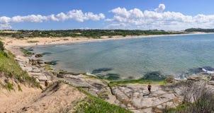 Beach view in Punta del Diablo in Uruguay Stock Photos