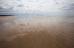 Beach view with sand and sky royalty free stock images