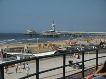 Beach view scheveningen Royalty Free Stock Images