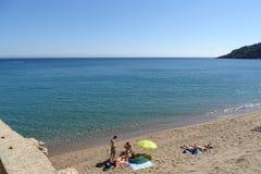 Beach view on summer, Begur, Costa Brava, Catalonia, Spain royalty free stock photo