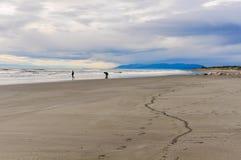 Beach view at Sunset in Hokitika, New Zealand Royalty Free Stock Photo