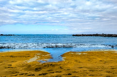 Beach view at Tenerife, Spain Stock Photography