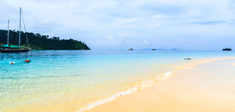 Beach view Thailand Ocean. Royalty Free Stock Image