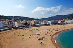 Beach view. Tossa de Mar. Royalty Free Stock Photos