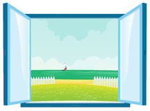 Beach View By The Window Royalty Free Stock Photos