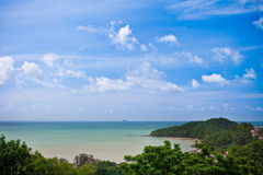 Beach From a Viewpoint. A beach from wat sirae temple viewpoint, Phuket, Thailand Royalty Free Stock Photography
