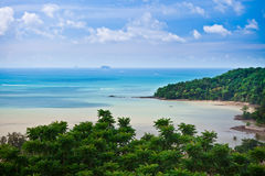 Beach From a Viewpoint. A from Wat Sirae view point, Phuket, Thailand Royalty Free Stock Image