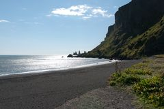 Beach in Vik Royalty Free Stock Photo