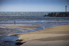 Beach of Vila Praia de Ancora, Portugal Stock Images
