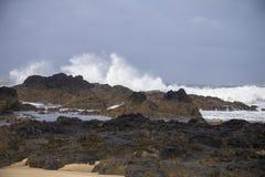 Beach of Vila Praia de Ancora, Portugal Stock Photos