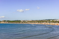 Beach in Vilanova i la Geltru, Catalonia, Spain Stock Photo