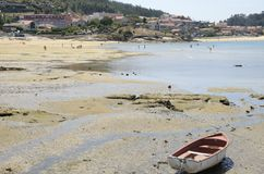 Beach of the village of Aldan Stock Image