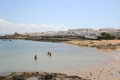 Beach in village on Canary islands Stock Images