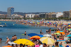 Beach of village Palamos in Spain Stock Photography