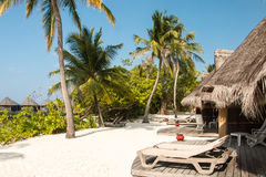 Beach Villas on Kuredu Stock Photo