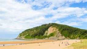 Beach at Villaviciosa, Asturias. Beach at Villaviciosa, a town in Asturias, Spain, known as the most important municipality of Asturias in production of cider royalty free stock images
