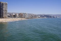 The Beach, Vina del Mar royalty free stock images