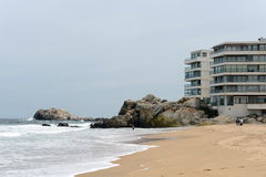 The beach in vina del Mar. Royalty Free Stock Photo