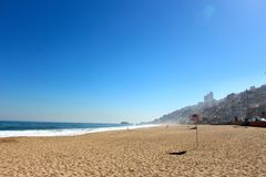 Beach at Vina del Mar, Chile. Stock Images