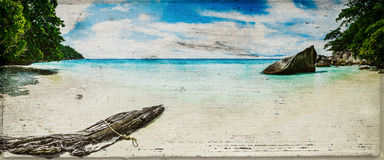 Beach vintage panorama Royalty Free Stock Images