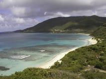 Beach at Virgin Gorda in Caribbean Royalty Free Stock Photography