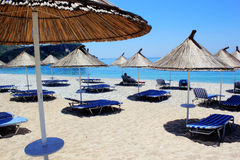 The beach in Vlora, Albania Royalty Free Stock Images