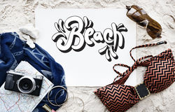Beach Vocation Enjoy Holidays Summer Concept Stock Photos