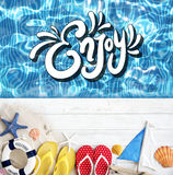 Beach Vocation Enjoy Holidays Summer Concept Stock Photography