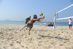 Beach volbleyball in Ipanema Stock Photo