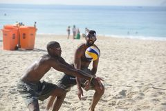 Beach volbleyball in Ipanema Royalty Free Stock Image