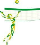 Beach volley. Woman sport beach volley vector illustration
