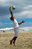 Beach volley ball 2. At Campsbay in Cape Town Stock Image