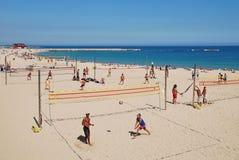 Beach volley ball, Barcelona stock photo