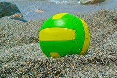 Beach volley ball. On the beach, near the sea Stock Photos