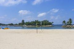 Beach Volley Ball. Net on a sandy beach Royalty Free Stock Photo