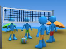 Beach Volley Challenge Royalty Free Stock Image