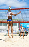 Beach volley  championchip (rome) Royalty Free Stock Images