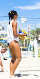 Beach volley  championchip (rome) Stock Images