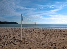Beach Volley Court. Beach Volleyball Court at the beach of Langkawi Island royalty free stock photos