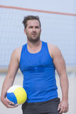 Beach volley male player Royalty Free Stock Photo
