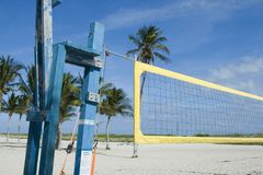 Beach volley at Miami. Beach volley net a nice day at South Beach, Miami Stock Photography