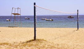 Beach volley net Royalty Free Stock Image